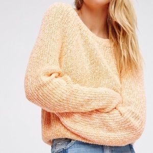 Free People Electric City Pullover Tangerine Small